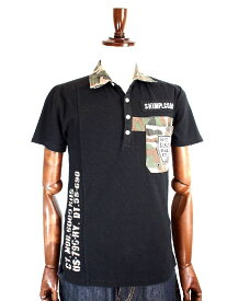 Real Masters リアルマスターズ 迷彩切り替えポロシャツ ポロシャツメンズ メンズポロシャツ POLO カモフラ