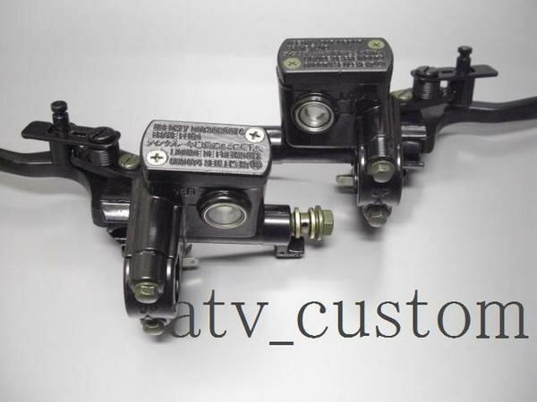 ATV 四輪バギー トライク ダブルディスク対応 左右14mmピストン 油圧ブレーキ ブラック ブレーキマスターシリンダー 左右セット