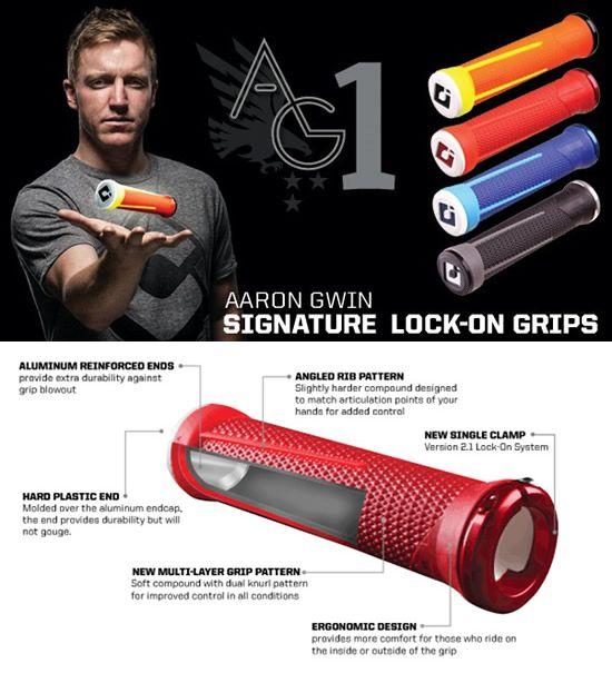 ODI AARON GWIN SIGNATURE Lock-On Grip ( グリップ+スナップキャップ ) オーディーアイ AG1 V2.1 LOCK-ON GRIPS