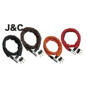 (J&C) (自転車用チェーンロック)JC024W レザータッチロック