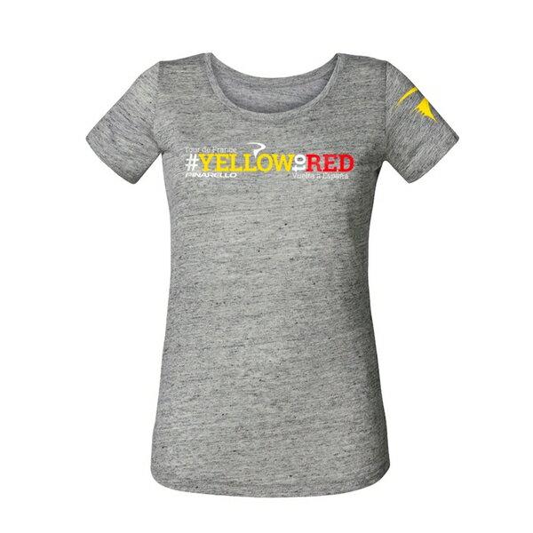 PINARELLO ピナレロ レディース Tシャツ 半袖 2017 Yellow to Red LIGHT GREY サイクルウェア