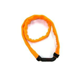 (ゴリン)GS8-1200 ダイヤルチェーンロック ネオプレ-ンカバ- マイセット(番号可変式) 3mmx1200mm オレンジ(O)