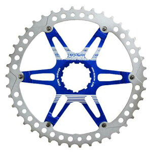 (FOURIERS/フォーリアーズ)(自転車用スプロケット/チェーン関連)MTB スプロケット42T ブルー (DX008-SK-426)