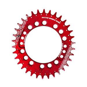 (FOURIERS/フォーリアーズ)(自転車用チェーンリング関連)MTB楕円チェーンリング XT(PCD96) 34T CR-DX8000 レッド