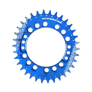 (FOURIERS/フォーリアーズ)(自転車用チェーンリング関連)MTB楕円チェーンリング XT(PCD96) 34T CR-DX8000 ブルー