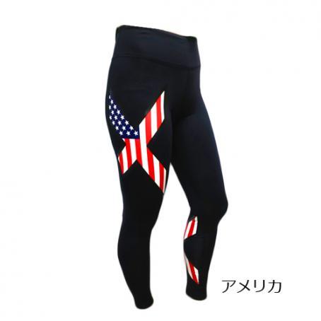 (2XU/ツータイムズユー)(自転車用ウェア/男性用/メンズ)TR2 コンプレッションタイツ オリンピック限定モデル (アメリカ)(MA3849b)