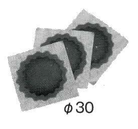 BRIDGESTONE ブリヂストン チップトップ製 高品質 チューブパッチ φ30mmx100枚セット パンク修理 TIP TOP 5S-0.A A692070 P3336