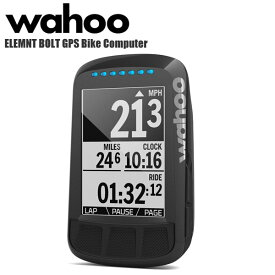 Wahoo ワフー ELEMNT BOLT GPS Bike Computer WFCC3BLK エレメントボルト GPSサイクルコンピューター単体 ステルスブラック 自転車 ロードバイク