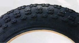ブリヂストン 幼児乗り物用12インチタイヤ タイヤのみ 1本 HE12.5x2.25 タイヤサイド色(ブラック) BRIDGESTONE HF12.5 2700448 P7085