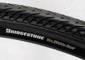 BRIDGESTONE ブリヂストン NEW マイティロード タイヤのみ 1本 WO27x1-1/2 タイヤサイド色 ブラック シティサイクル車用 太サイズタイヤ CMR27H-X 2700697BLB P5370