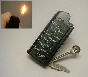送料220円〜パイプ用ライター イムコ(IMCO)CHIC4(シック4)PIPE 1303G フリント式ガスライター(黒)折りたたみナイフ,タンバー付き ガス再注入式