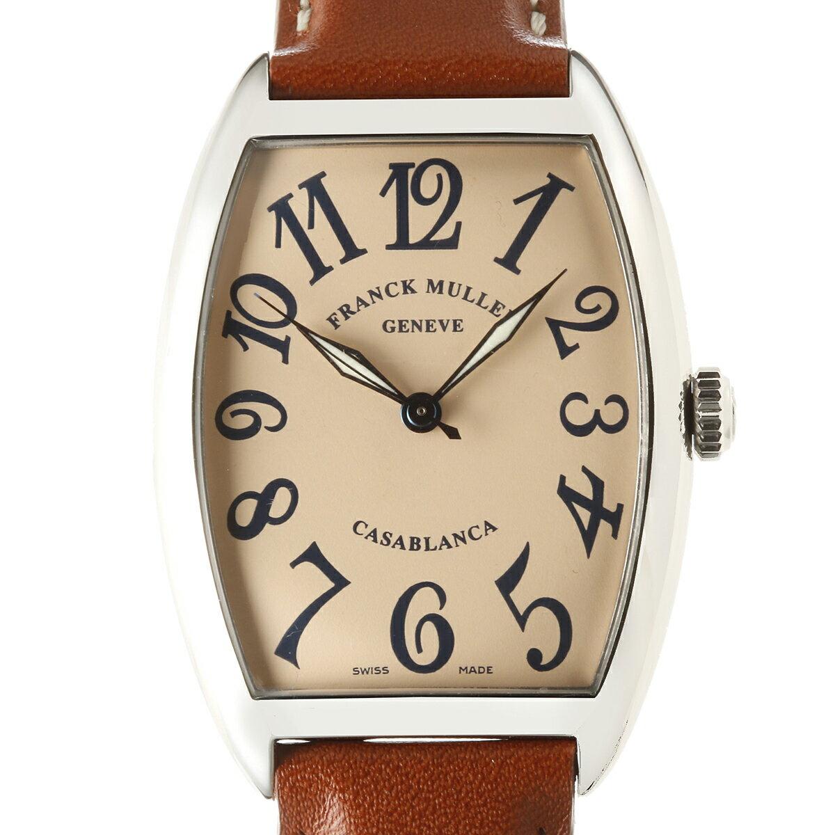 [飯能本店] FRANCK MULLER フランクミュラー カサブランカ 2852CASA 腕時計 ステンレススチール サーモンブルー アラビアン 文字盤 メンズ DH48401【大黒屋質店出品】 【中古】【送料無料】