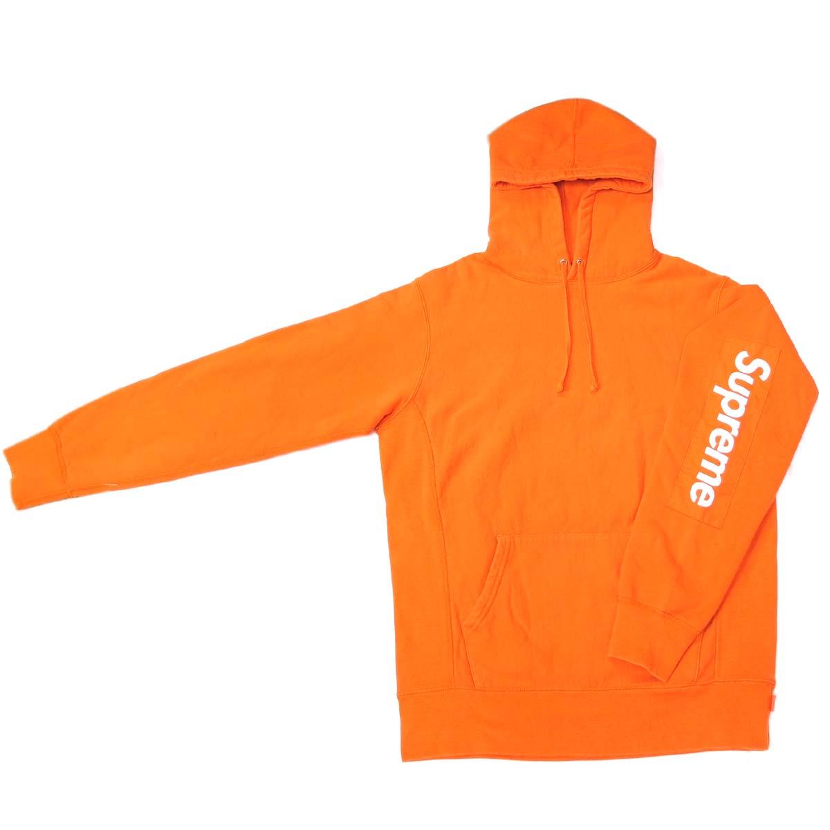 [飯能本店] Supreme シュプリーム パーカー 17ss Sleeve Patch Hooded パーカー 綿100% オレンジ ユニセックス DH50631【大黒屋質店出品】 【中古】【店頭受取対応商品】