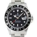 【銀座店】 ロレックス GMTマスター A番(1999年製造) メンズ 腕時計 16710 ステンレススチール ブラック文字盤 DH51…