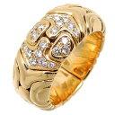【銀座店】 ブルガリ 750YG アルベアーレ ダイヤモンド レディース リング・指輪 750イエローゴールド 9.5号 DH63379…