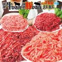 【送料無料】国産牛肉・豚肉100%ひき肉 1kg 冷凍 選べるシリーズ パラパラミンチではありませんが格安商品 2セットご…