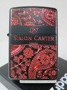 ジッポーライター:Zippo Simon Carter // サイモン カーター // ペイズリー BOX-IR SCP-016 エッチング イオンブラックマッ...