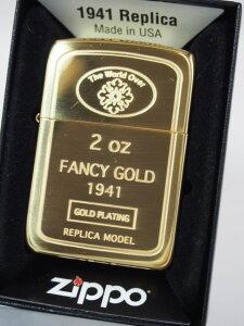 ジッポーライター: Zippo 1941 GOLD Ingot // ゴールド インゴット // 純金仕上げ レギュラー ★インナーもゴールド!!★ ◇ゴージャス!!◇ 【あす楽対応】 【楽ギフ_包装】 【母の日】 【父の日】