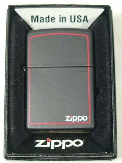 Zippo lighters: Zippo black matte #218ZB 'red line' black //Zippo &Border / border ☆ tastefully! ☆