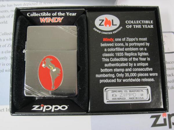 ジッポーライター: Zippo 1935 Windy ガール 世界限定品 //ウィンディー メタリケ// 2013 Collectible of The Year ★USA加工★ ♪お洒落♪ 【あす楽対応】 【楽ギフ_包装】 【ジッポ】 【ジッポー】 【限定】 【ライター】 【ダルマヤ】