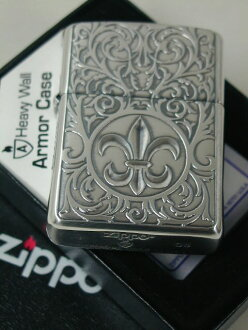"""Zippo lighters: Zippo armor Venetian / etching engraving / s Lily cross.""""Silver ★ double-sided machining ★ Armor"""
