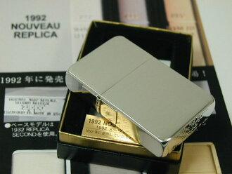 Zippo lighters: Zippo 1992 Nouveau replica PTS [1932] Platinum finish silver