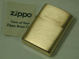 Zippo 打火机: 刻的 Zippo # 204 刷黄铜平原实心黄铜普通黄铜固体黄金 (黄金) / / 和 / / 内部是金 ! ★ 平原