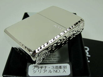 "Zippo lighters: limited edition Zippo armor / / side sculpture / / Arabesque Tang grass & エッジリューター ""Platinum"" 162 3-sided sculpture PT ""Armor"" ☆ gorgeous! ☆"