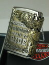 ジッポーライター: Zippo 【限定】 ハーレー サイド イーグル //Harley Davidson// HDP-27 銀JP 日本限定製造モデル ☆シルバ...