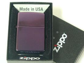 ジッポーライター: Zippo Abyss パープル 紫色 【 アビス 】 プレーン 《無地》 PVD チタン ★USA純正★ #24747 【あす楽対応】 【楽ギフ_包装】 【母の日】 【父の日】 【ジッポ】 【ジッポー】 【ライター】 【ダルマヤ】 【人気商品】