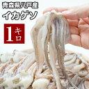 [ イカゲソ ] 青森県八戸産 スルメイカげそ 業務用 [1kg・約16〜20本] ゲソ するめいか 冷凍 いか イカ いかげそ イ…