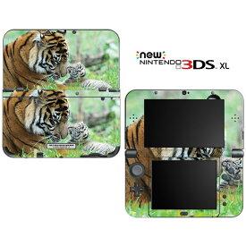 【お取寄せ】 ニンテンドー new3DSLL スキンシール DecalSkin [AN20/Sweet Baby Tiger Cub with Mom] new3DS LL デコ シール デコシート スキン シート カバーシール new 3DSLL 送料無料 new 3DS LL