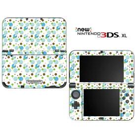 【お取寄せ】 ニンテンドー new3DSLL スキンシール DecalSkin [BZ33/アクア ドット] new3DS LL デコ シール デコシート スキン シート カバーシール new 3DSLL 送料無料 new 3DS LL
