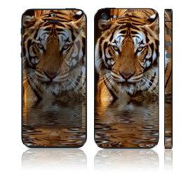 【お取寄せ】 iPhone SE/5S DecalSkin スキンシール [AM14/虎 トラ] デコシール デコシート 前面シール 背面シール iPhone SE 5S iPhoneSE iPhone5S 送料無料 アイフォン アイフォーン アイホン