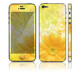 【お取寄せ】DecalSkin スキンシール Apple iPhone5 BF18/Yellow Flowers