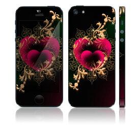 【お取寄せ】 iPhone SE/5S DecalSkin スキンシール [MT9/ミスティックハート] デコシール デコシート 前面シール 背面シール iPhone SE 5S iPhoneSE iPhone5S 送料無料 アイフォン アイフォーン アイホン