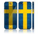 【お取寄せ】 iPhone SE/5S DecalSkin スキンシール [PO44/スウェーデン] デコシール デコシート 前面シール 背面シー…