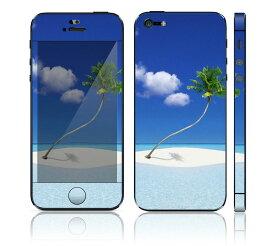 【お取寄せ】 iPhone SE/5S DecalSkin スキンシール [ZZ24/パラダイス] デコシール デコシート 前面シール 背面シール iPhone SE 5S iPhoneSE iPhone5S 送料無料 アイフォン アイフォーン アイホン