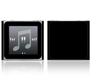 【即納】 iPod nano 第6世代 スキンシール DecalSkin [CP13 黒 ブラック ] デコ シール デコシート 前面 背面 シール カバーシール アイポッド ナノ iPodnano アイポッドナノ 6世代 6th 送料無料