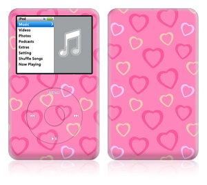 【即納】 iPod classic スキンシール DecalSkin [LP3/ピンクハート] デコ シール デコシート 前面シール 背面シール ホイールカバーシール アイポッド クラシック iPodclassic アイポッドクラシック