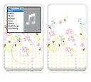 【即納】 iPod classic スキンシール DecalSkin [YU43/Spring Time] デコ シール デコシート 前面シール 背面シール …