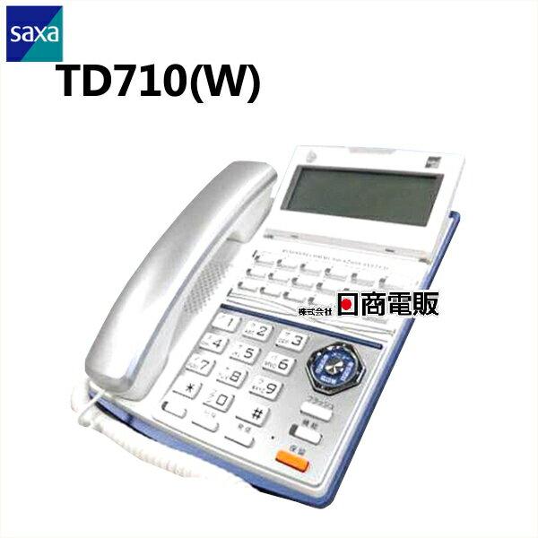 【中古】TD710(W) saxa/サクサ PLATIA 多機能電話機【ビジネスホン 業務用 電話機 本体】