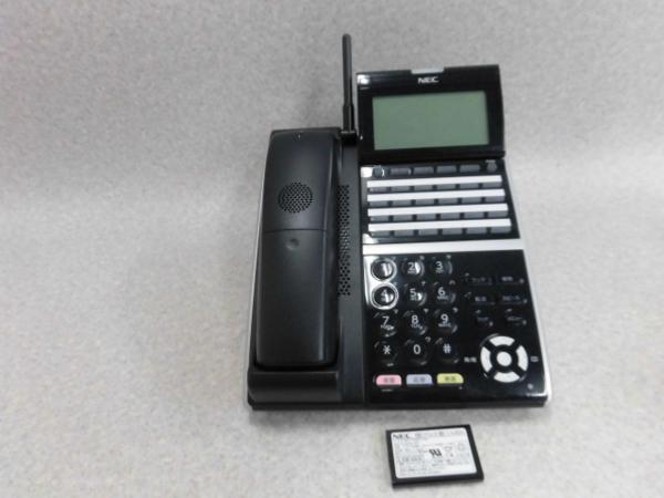 【中古】DTZ-24BT-3D(BK)TEL NEC Aspire UX Aspire WXに対応!24ボタンカールコードレス電話機【ビジネスホン 業務用 電話機 本体 子機】