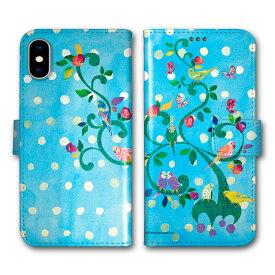 【200円OFFクーポン有】 iPhone11 スマホケース 手帳型 全機種対応 iPhone12 (6.1インチ) iPhone12 mini (5.4インチ) iPhone12 Pro Max (6.7インチ) iPhoneSE 第2世代 11 Pro 11 XR XS 7 8 6s ケース COMO インコ カップル 水玉 ブルー かわいい