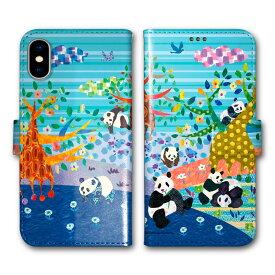 【スーパーセール 先着1名 大特価】 iPhone12 ケース iPhone12 Pro (6.1インチ) 手帳型ケース iPhone12 mini iPhone12 Pro Max iPhone SE 第2世代 スマホケース 手帳型 11 Pro Max 11 Pro 11 SE2 XR XS 7 8 6s パンダの丘 じゃれる子パンダ ストライプ