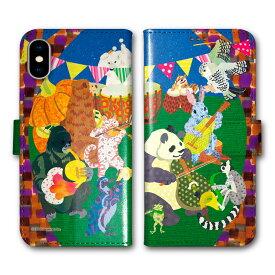 【200円OFFクーポン有】 Xperia 5 SO-01M SOV41 手帳型 スマホケース 全機種対応 SO-02L SO-01L SH-02M SH-04L SH-01L SC-02M SC-01M HW-02L iPhone11 Pro XR XS 手帳 カバー COMO デザイン パンダ ゴリラ アニマル バンド