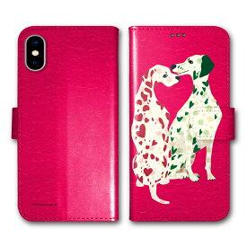 【200円OFFクーポン有】 Xperia 5 SO-01M SOV41 手帳型 スマホケース 全機種対応 SO-02L SO-01L SH-02M SH-04L SH-01L SC-02M SC-01M HW-02L iPhone11 Pro XR XS 手帳 カバー COMO デザイン ダルメシアン ディープピンク