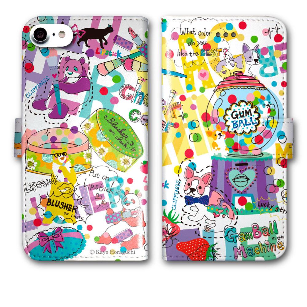 【バレンタイン プレゼントに】 ホラグチカヨ スマホケース 手帳型 iPhone XS Max iPhone XS iPhone XR SO-05K SO-04K SO-03K SH-03K SH-01K SC-03K SC-02K F-04K SOV38 SOV37 SOV36 SHV42 SHV40 702SO 707SO 全機種対応★プレゼントに