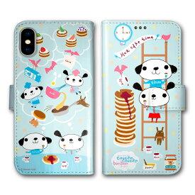スマホケース 手帳型 全機種対応 iPhone11 iPhoneXR iPhone8 AQUOS sense3 SH-02M SHV45 SH-04L SH-01L SO-01M SOV41 SOV42 SC-02M SCV46 SC-01M スマホ カバー ケース イドナオミ クシュクシュボンボン パンケーキ ホットケーキ スイーツ