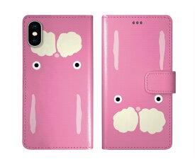iPhone XR iPhone XS iPhone8 ケース スカラー 手帳型 SO-02L SO-01L SO-05K SH-04L SH-01L SH-03K SH-01K SC-04L SC-03L SC-02L F-02L F-04K ScoLar 手帳型ケース 全機種対応 ラビル 顔アップ ピンク キャラクター ダイアリー
